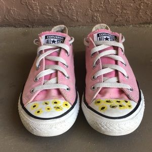 Girls Converse Chuck Taylor Sunflower Shoes size 3